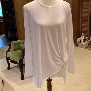Catherine MaLandrino White knit blouse